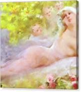A Brides Fantasy Canvas Print