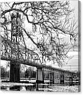 A Bridge In Winter Canvas Print