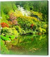 A Bright Garden Canvas Print