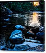 A Browns River Sunset Canvas Print