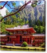 Buddhist Temple - Oahu, Hawaii - Canvas Print