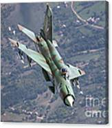 A Bulgarian Air Force Mig-21bis Armed Canvas Print