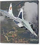 A Bulgarian Air Force Mig-29 In Flight Canvas Print