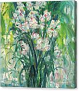 A Bunch Of Orchid Paintings Canvas Print