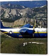 A C-130 Hercules Fat Albert Plane Flies Canvas Print