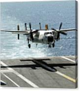 A C-2a Greyhound Prepares To Land Canvas Print