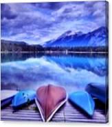 A Calm Afternoon At Lake Edith Canvas Print