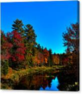 A Calm Fall Day On The Upper Moose Canvas Print