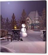 A Calm Winters Night Canvas Print