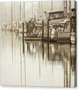 A Canal View Canvas Print
