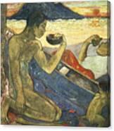 A Canoe Canvas Print