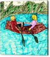 A Canoe Ride Canvas Print