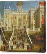 A Capriccio View Of The Campidoglio Canvas Print