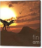 A Carnivorous Allosaurus Calling Canvas Print