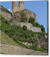 A Castle Among The Vineyards Canvas Print