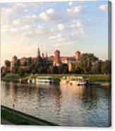 A Castle On The River Canvas Print