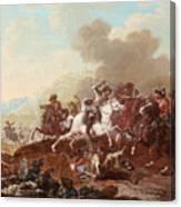 A Cavalry Skirmish Canvas Print