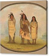 A Cheyenne Chief His Wife And A Medicine Man Canvas Print