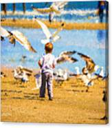 A Child At The Beach Isle Of Palms Sc Canvas Print