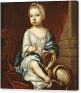 A Child Of The Pierpont Family Canvas Print