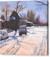A Christmas Snow Canvas Print