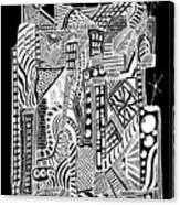 A City 2...   -  Une Ville 2... Canvas Print