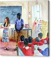 A Classroom In Africa Canvas Print