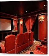 A Classy Home Theater Set Up Canvas Print