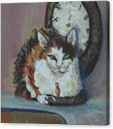 A Clockwork Cat Canvas Print