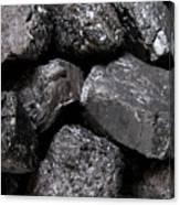 A Close View Of Coal Ready For Burning Canvas Print