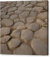 A Cobblestone Road In Rome Canvas Print