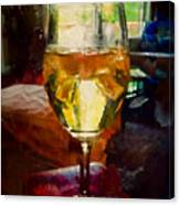 A Cold Glass Of Wine Canvas Print