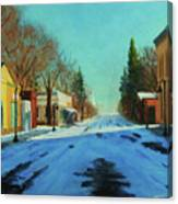 A Cold Morning Canvas Print