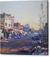 A Cold Sunny Day At Webster St Canvas Print