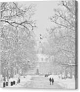 A Colonial White Winter Canvas Print