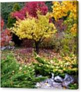 A Colorful Fall Corner Canvas Print