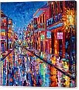 A Cool Night On Bourbon Street Canvas Print