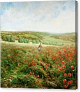 A Corner Of The Field In Bloom Canvas Print