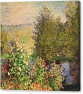 A Corner Of The Garden At Montgeron Canvas Print