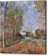 A Corner Of The Woods At Sablons Canvas Print