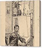 A Corner Window, Will Low Canvas Print