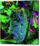 A Cosmic Owl In A Psychedelic Forest Canvas Print