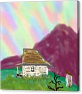 A Cottage In The Alps Canvas Print