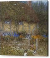 A Cottage Near Godalming Surrey Canvas Print