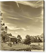 A Country Place 3 - Sepia Canvas Print