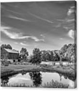 A Country Place Bw Canvas Print