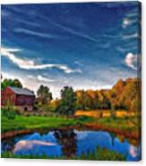 A Country Place Painted Version Canvas Print