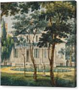 A Country Residence Possibly General Moreau's Country House At Morrisville Pennsylvania Canvas Print