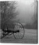 A Country Scene In Black And White Canvas Print