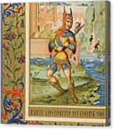 A Court Fool Of The 15th Century. 19th Canvas Print